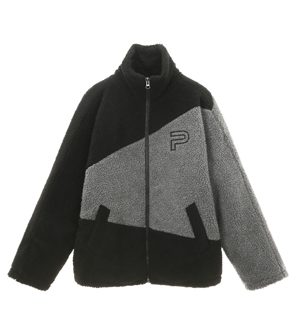 OVER SIZE SHERPA _ BLACK