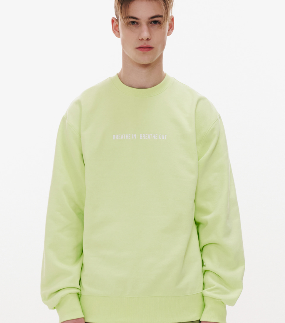 BREATHE SWEAT SHIRTS_PALE APPLE GREEN
