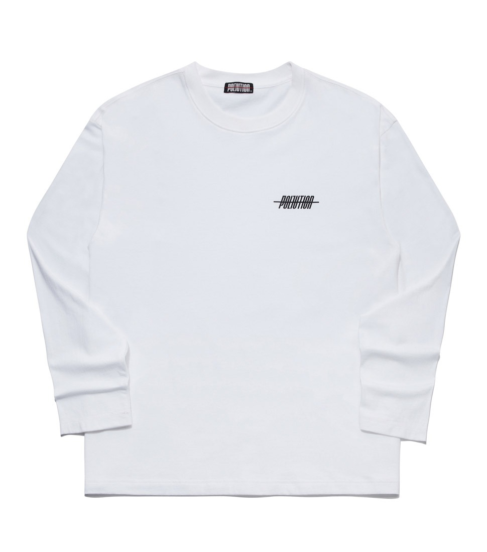 BASIC LONG SLV T WHITE