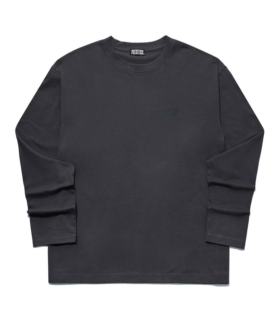 BASIC LONG SLV T CHARCOAL