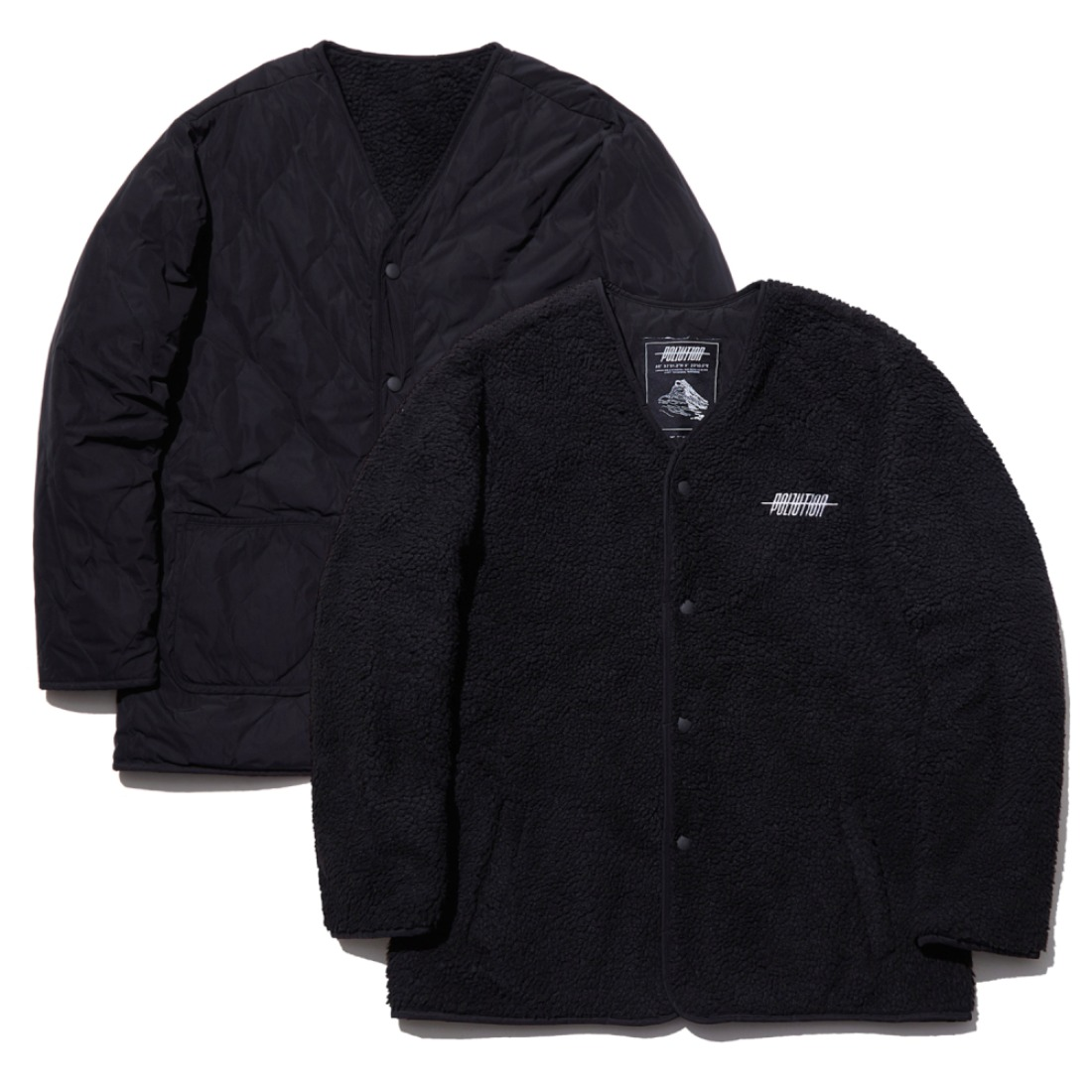 REVERSIBLE SHRPA JACKET BLACK