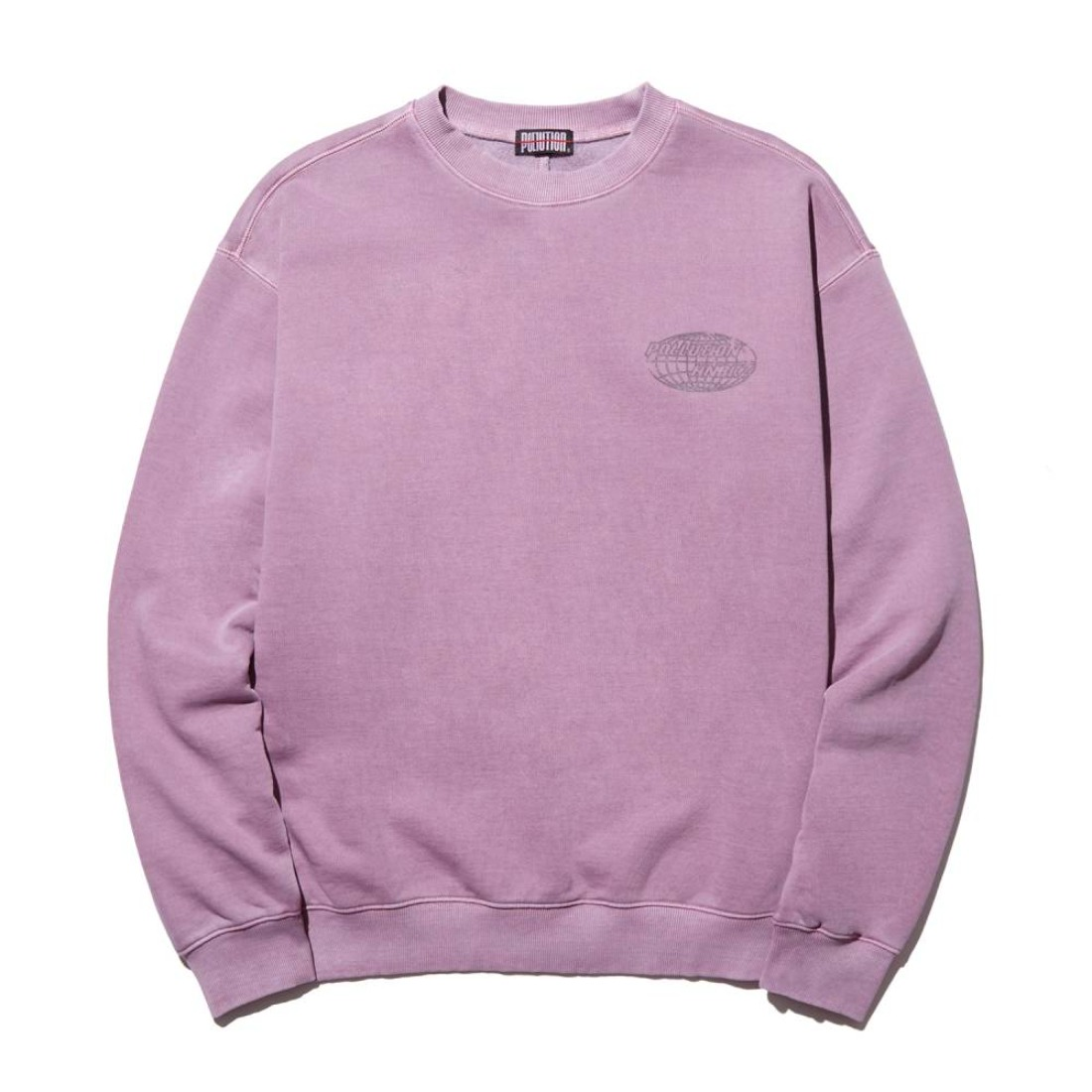 PIGMENT DYE BACK SEAM CREWNECK FADED VIOLET