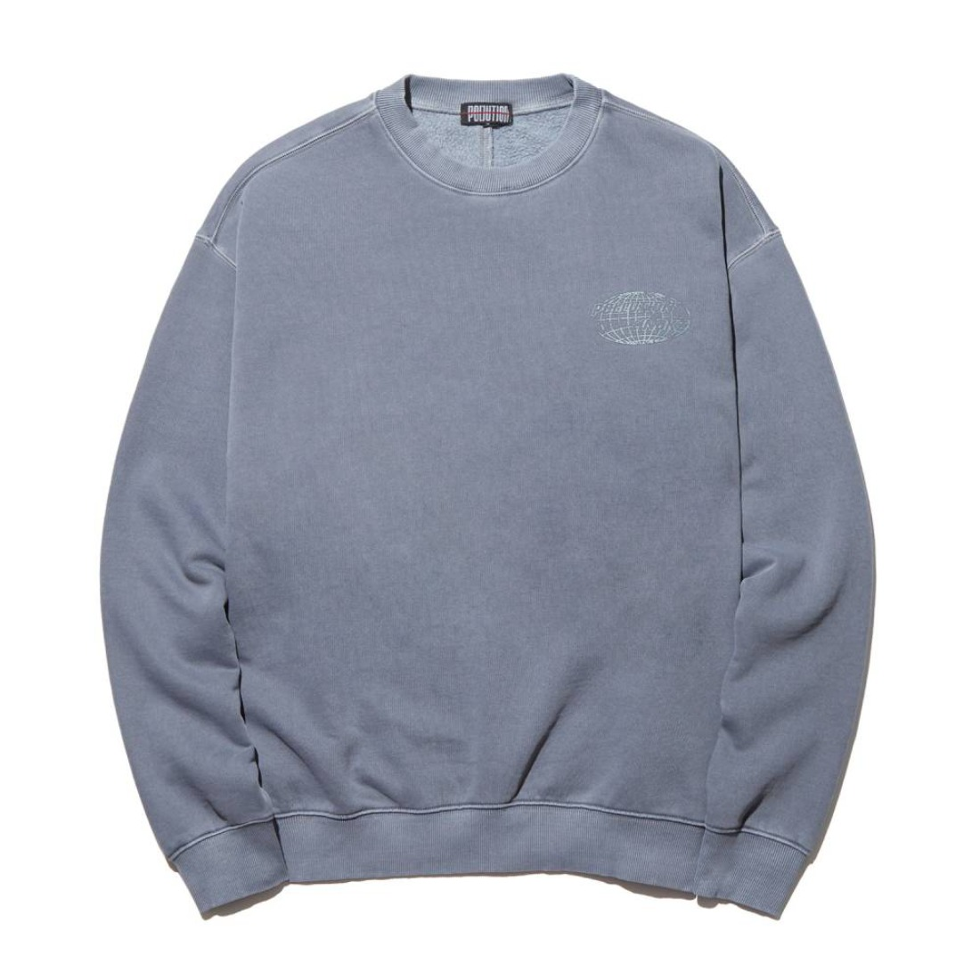 PIGMENT DYE BACK SEAM CREWNECK WASHED BLACK