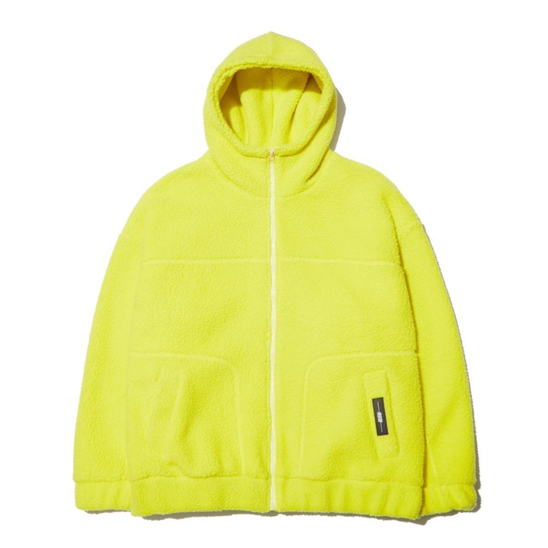 FLEECE ZIP-UP HOOD LIME