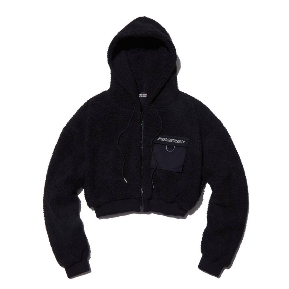 CROPPED SHERPA JACKET BLACK