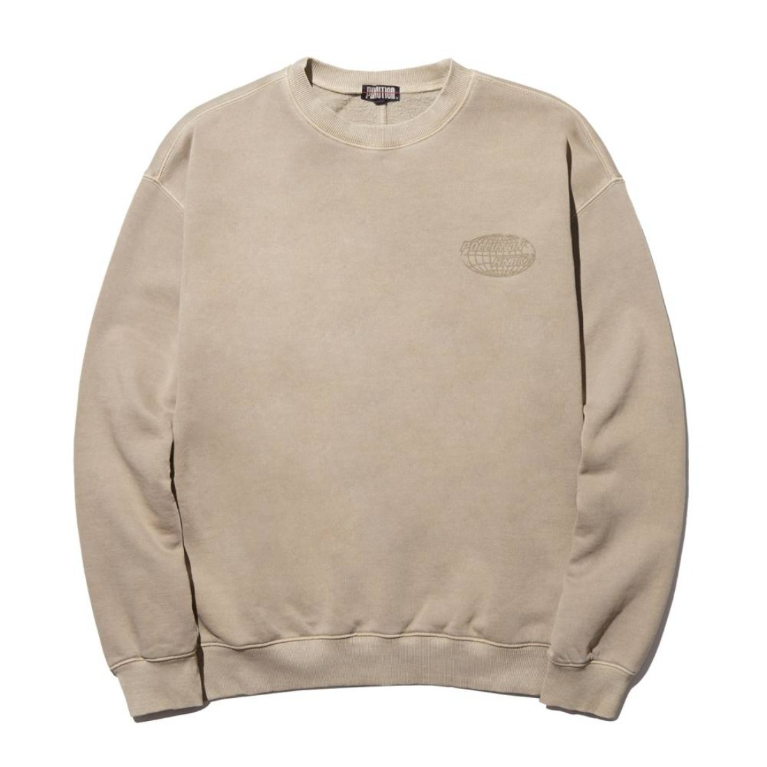 PIGMENT DYE BACK SEAM CREWNECK BURNT TAN