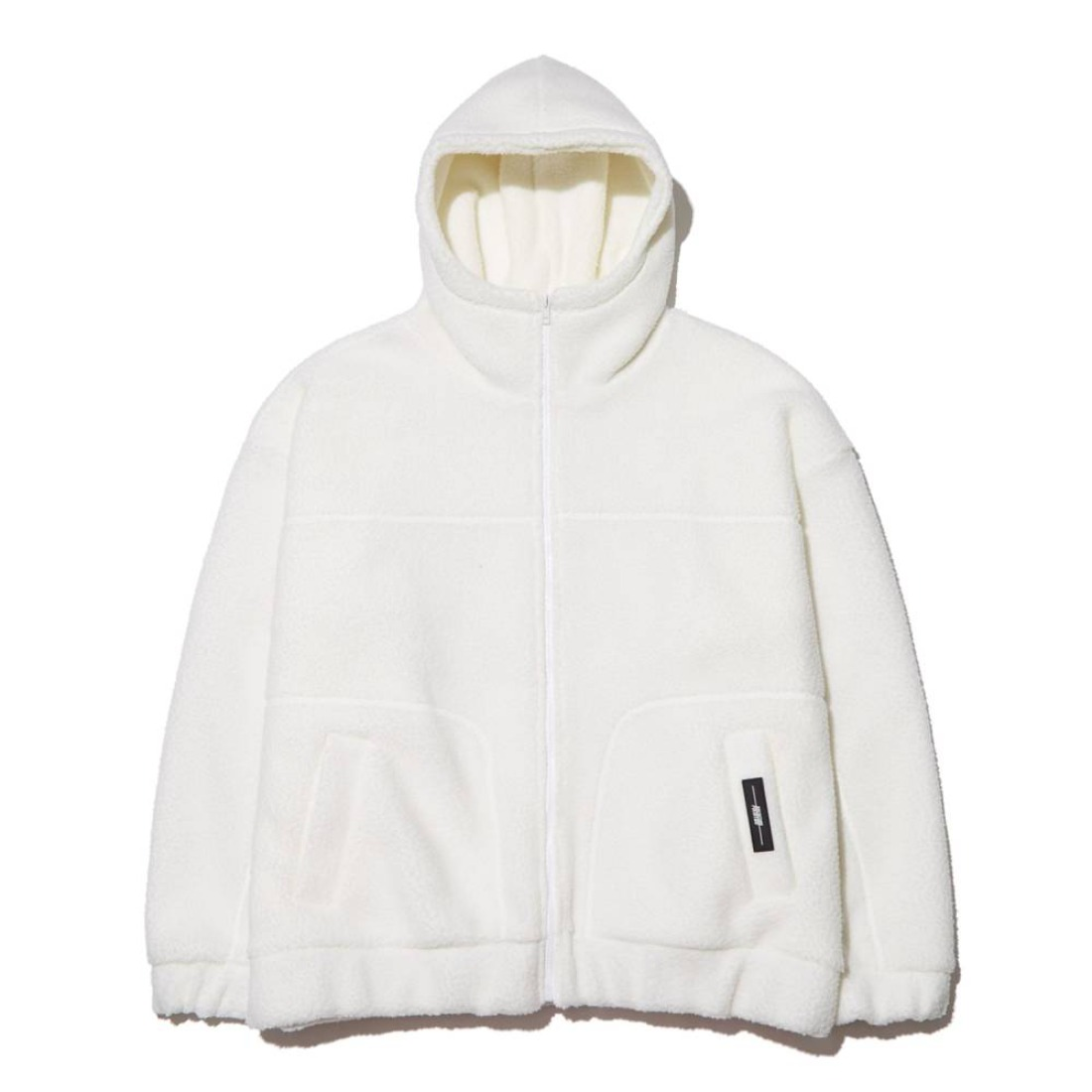 FLEECE ZIP-UP HOOD IVORY