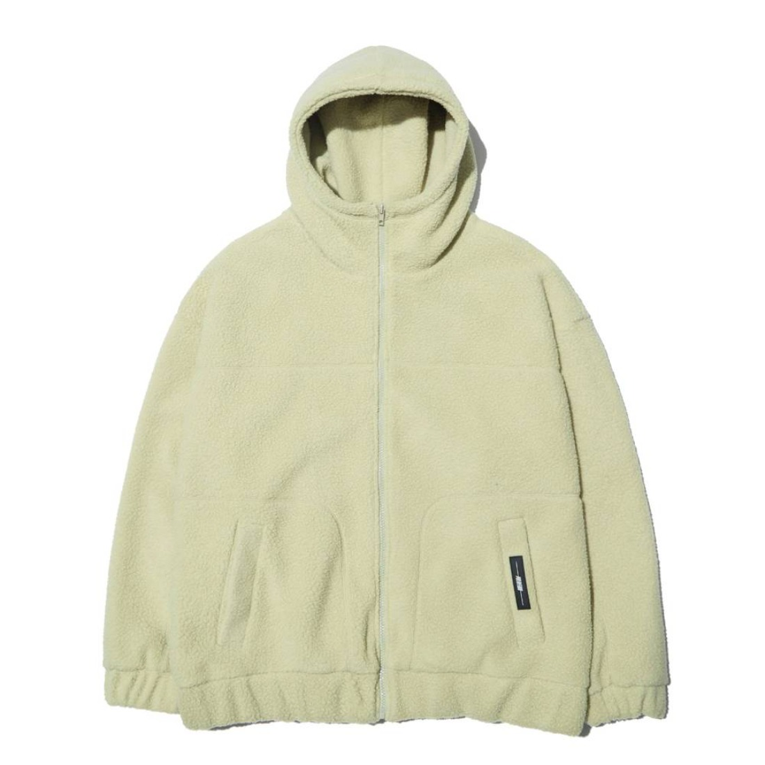 FLEECE ZIP-UP HOOD LIGHT KHAKI